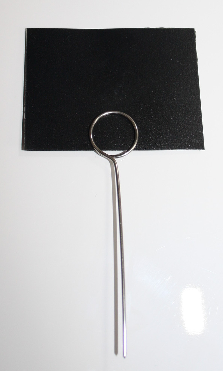 Меловые ценники 5х10 см с иглой - ценникодержателем 100 штук.(для надписей мелом и маркером) Грифельные