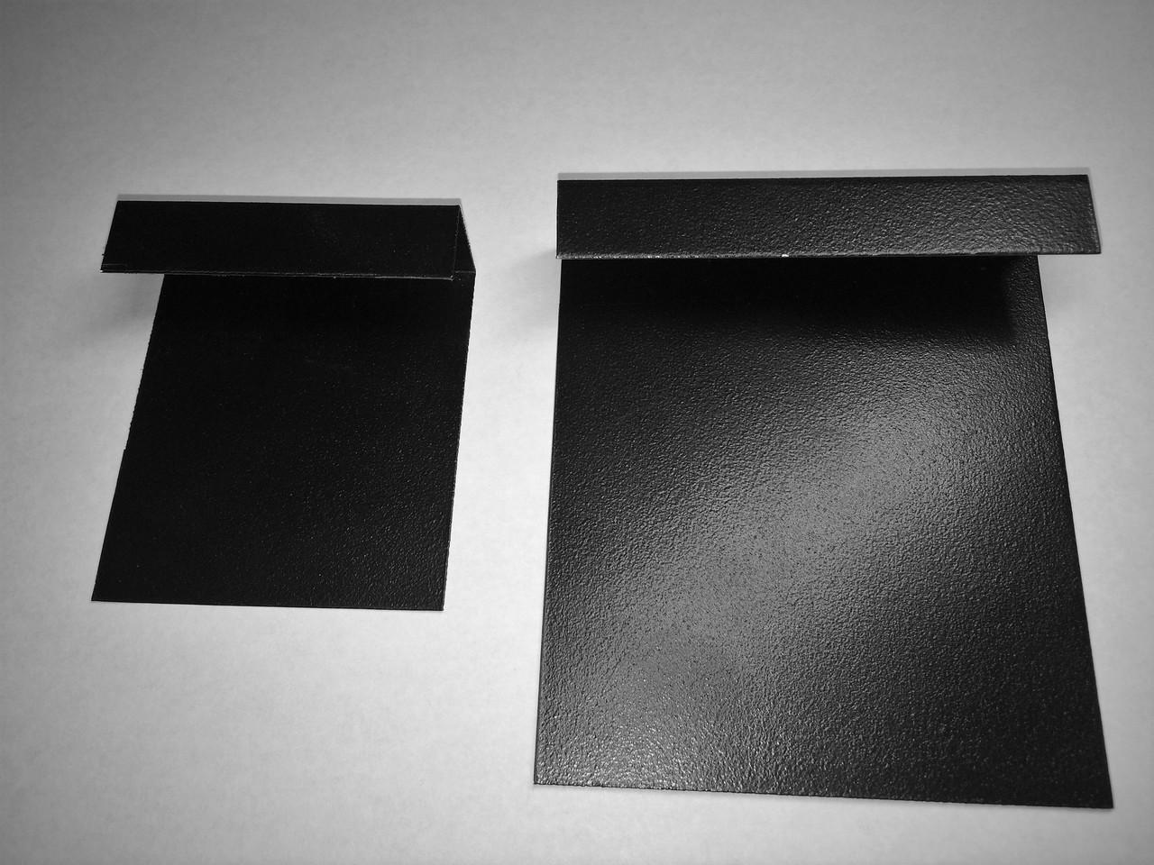 Меловой ценник 3х3 см П-образный на полку. Грифельная табличка на стеллаж. Для надписей мелом и маркером.