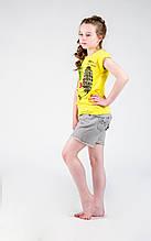 Дитяча футболка для дівчинки De Salitto Італія 96921 Жовтий