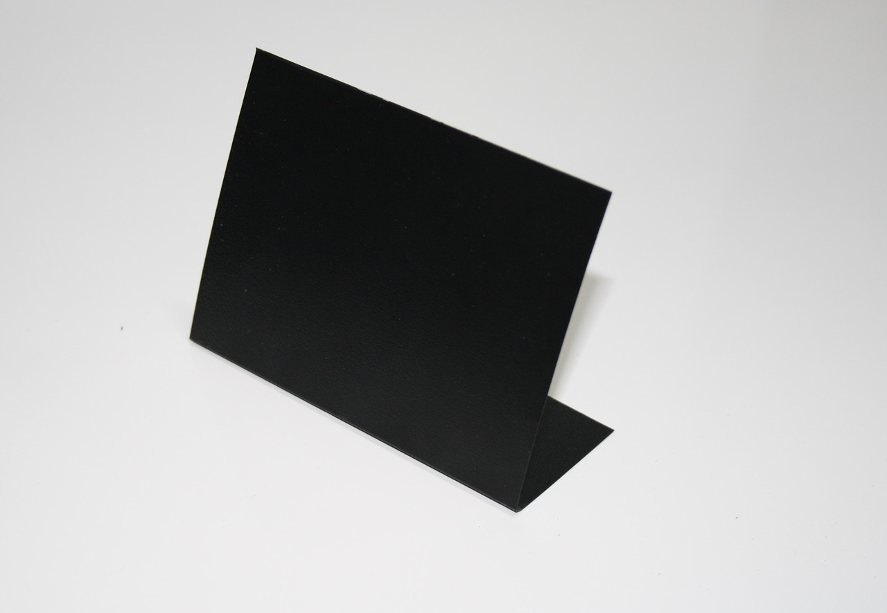 Ценник меловой 9х12 см настольный угловой L-образный. Для надписей мелом и маркером. Грифельный