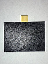 Ценник меловой 5х7 см на прищепке для мела и маркера. Грифельная табличка. Крейдовий цінник чорний