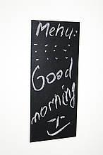Крейдяна магнітна табличка на холодильник 10 см х 15 див. Дошки на холодильник. Грифельна дошка чорна