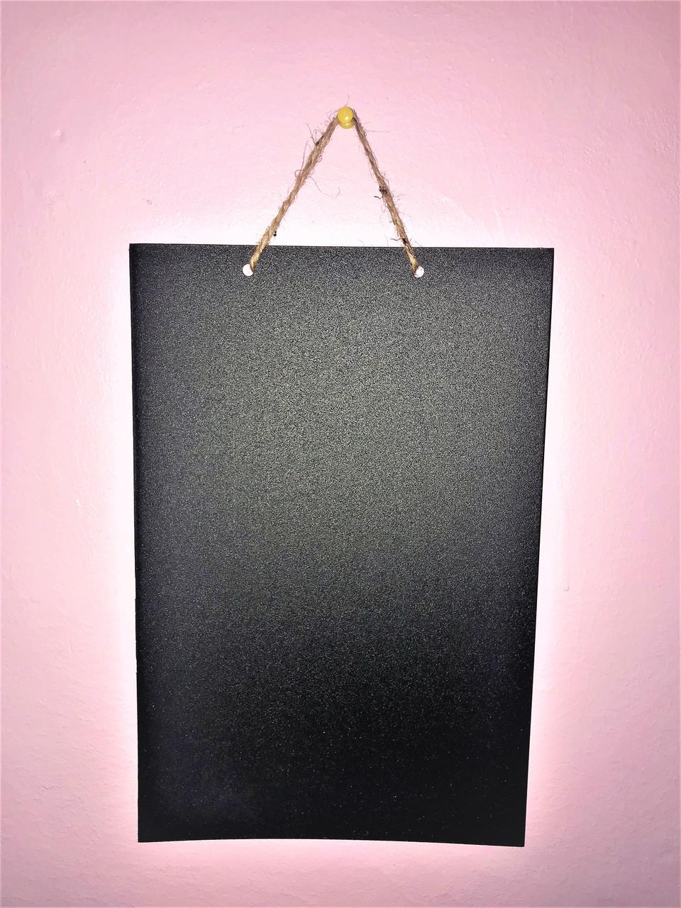 Магнітно-крейдяна дошка А3 40х30 см Для малювання крейдою і маркером. Вертикальна. Грифельна дошка