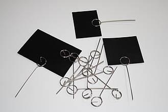 Меловые ценники 5х7 см с иглой - ценникодержателем 100 штук.(для надписей мелом и маркером) Грифельные