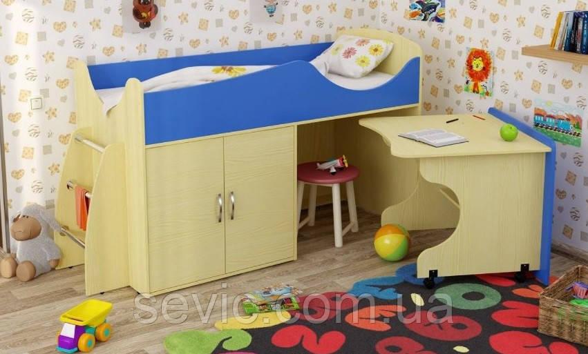 Детская кровать чердак КЕТ 37