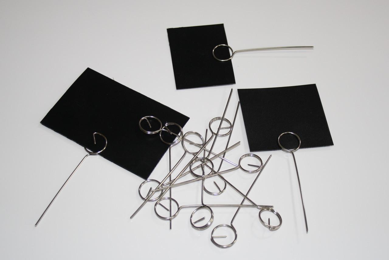 Меловые ценники 6х9 см с иглой - ценникодержателем 100 штук. Грифельные таблички для надписей мелом и маркером