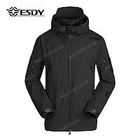 Куртка тактическая Softshell Esdy Shark Skin (Черная), фото 1