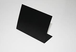Ценник меловой 6х9 см угловой L-образный для надписей мелом и маркером. Грифельный настольный ценник