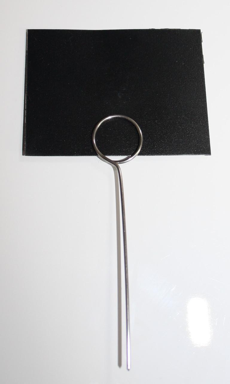 Меловые ценники 6х8 см с иглой - ценникодержателем 100 штук. Грифельные таблички для надписей мелом и маркером