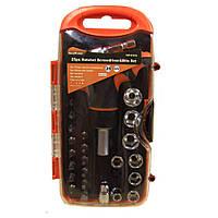 Высококачественный набор инструментов отвертка с трещеткой с головками и битами Gear Power HZF -8187A 25шт D1011