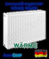 Сталевий радіатор Warme 500х800 тип 22 бокове підключення, фото 1
