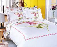 Комплект постельного белья Le Vele Buket white сатин 220-160 см