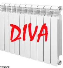 Алюминиевый радиатор Diva 96*500
