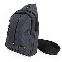 Мужская сумка через плечо,сумка мужская нагрудная JINGPLN джинс, фото 1