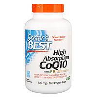 Легкоусвояемый CoQ10 с BioPerine, 100 мг, 360 вегетарианских капсул, Doctor's Best