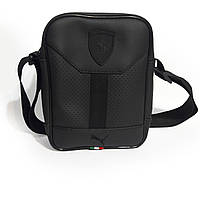 Мужская сумка через плечо в стиле Puma Ferrari Черная, фото 1