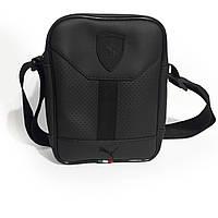 Сумка через плечо Puma Ferrari Черная, Пума феррари сумка черная реплика, фото 1