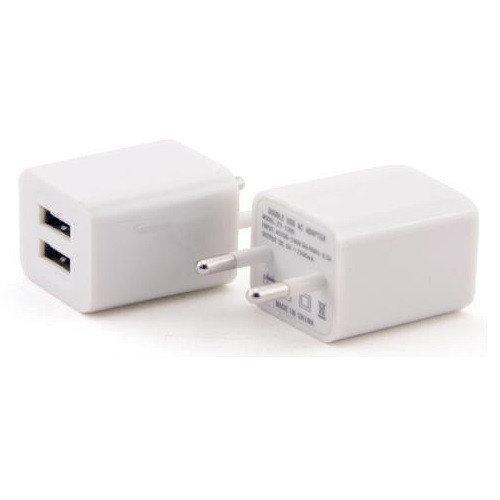 Сетевой адаптер питания Apple кубик на 2 USB AR-2100 5V 2100 mA выхода универсальный адаптер переходник 2A