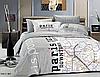 Комплект постельного белья Le Vele Paris Map сатин 220-160 см