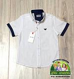 Белая рубашка Armani с коротким рукавом для мальчика 3-5 лет, фото 2