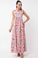 Длинное платье женское «Божена» (Розовое | 42, 46, 52)