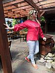 Блуза красная хлопок Оригами свит шот бохо свободная Бл 047-4, фото 5
