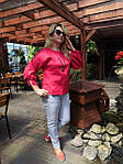 Блуза красная хлопок Оригами свит шот бохо свободная Бл 047-4, фото 8