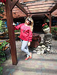Блуза красная хлопок Оригами свит шот бохо свободная Бл 047-4, фото 2