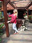 Блуза красная хлопок Оригами свит шот бохо свободная Бл 047-4, фото 6