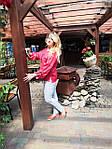 Блуза красная хлопок Оригами свит шот бохо свободная Бл 047-4, фото 9