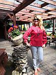 Блуза красная хлопок Оригами свит шот бохо свободная Бл 047-4, фото 7