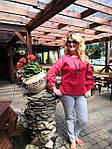 Блуза красная хлопок Оригами свит шот бохо свободная Бл 047-4, фото 10