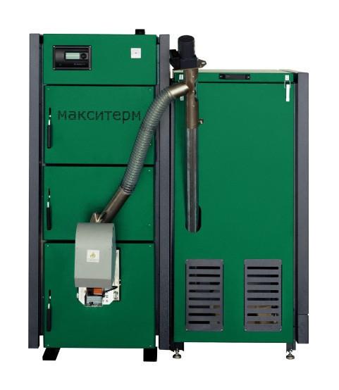 Пеллетный котел Макситерм ПРОФИ 33 кВт с факельной горелкой Eco-palnik Uni-Max