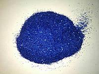 Глітер (блискітки для декору), упаковка 50 г. Синій, фото 1