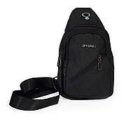 Мужская сумка через плечо,сумка мужская нагрудная JINGPLN черная, фото 1