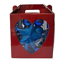 Набор елочных игрушек - новогодний, 83 шт, D3-5-7 см, синий, пластик (031443-4)