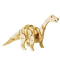 Деревянный 3D конструктор RoboTime динозавр-робот Апатозаурус с управлением звука (D450)