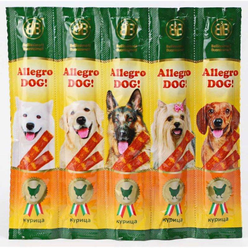Allegro Dog - мясные колбаски Аллегро Дог с курицей для собак 1 шт.