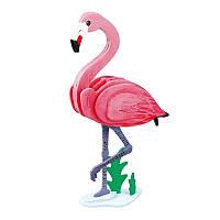 Деревянный конструктор-раскраска RoboTime Фламинго (HC206)
