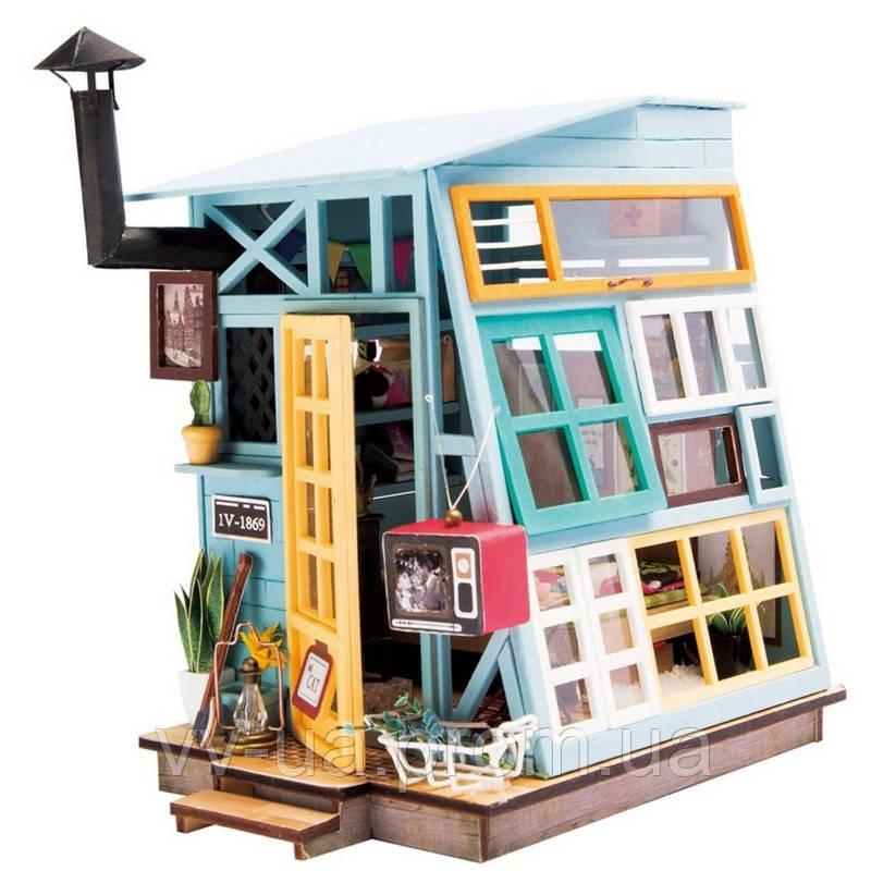 Мини-интерьерная модель ручной работы Robotime Деревянный дом (DGM03)