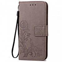 Кожаный чехол (книжка) Four-leaf Clover с визитницей для Meizu X8