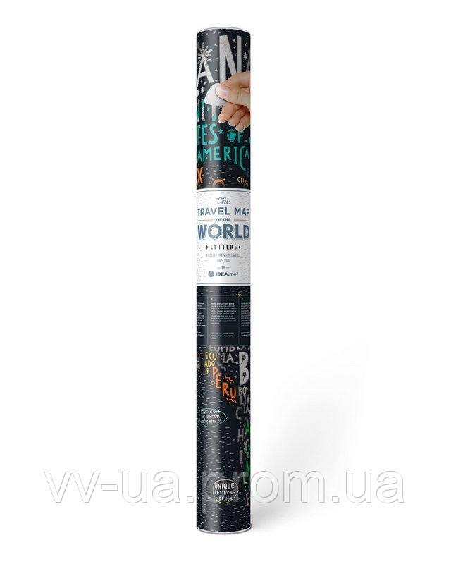 Скретч карта мира Travel Map Letters World (4820191130425)