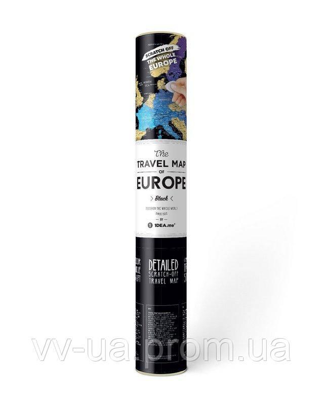 Скретч-карта Travel Map Black Europe (4820191130708)