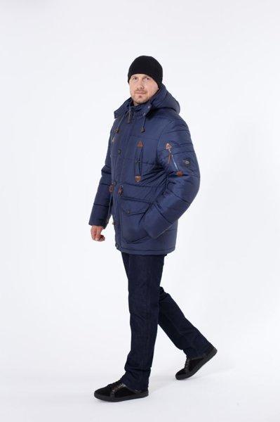 Зимняя куртка парка мужская молодежная  на меху  46-50 синий
