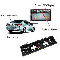 Рамка для номера с датчиками заднего хода и камерой заднего вида European license plate parking sensor