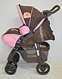 Детская прогулочная коляска книжка  Sigma S-K-6F Brown, фото 4