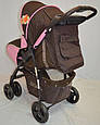 Детская прогулочная коляска книжка  Sigma S-K-6F Brown, фото 6