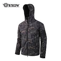Куртка тактическая Softshell Esdy Shark Skin (DARK-BLUE)