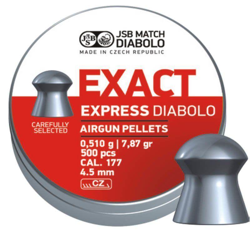 Пули пневматические JSB Diabolo Exact Express 0.51 гр (500 шт)