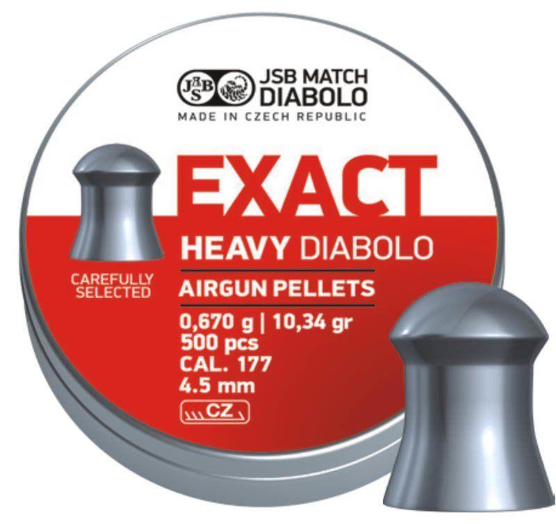 Пули пневматические JSB Diabolo Exact Heavy 0.67 гр (500 шт)